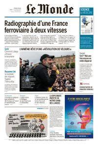 Le Monde du Mercredi 2 Mai 2018