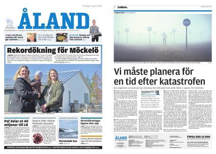 Ålandstidningen – 17 april 2020