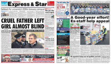 Express and Star Sandwell Edition – December 08, 2017