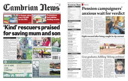 Cambrian News Machynlleth & Llanidloes – 30 July 2020