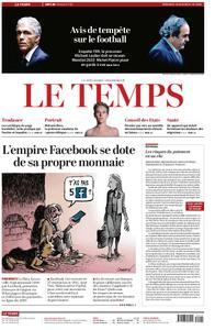 Le Temps - 19 juin 2019