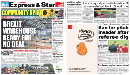 Express and Star Sandwell Edition – August 10, 2019
