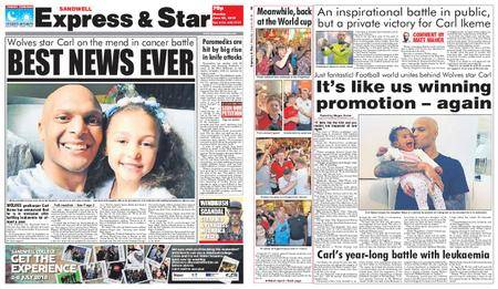 Express and Star Sandwell Edition – June 25, 2018