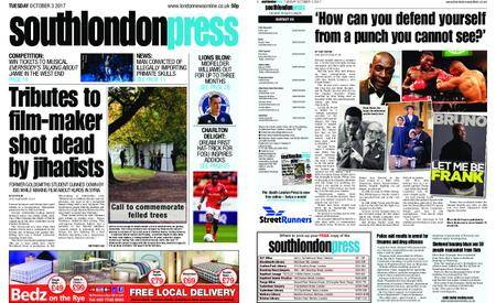 South London Press – October 03, 2017