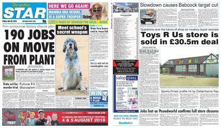 Shropshire Star Shrewsbury Edition – July 20, 2018
