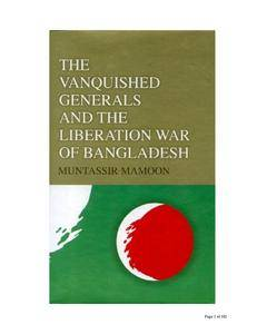 The vanquished generals and the liberation war of Bangladesh
