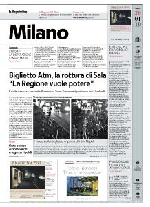 la Repubblica Milano - 26 Gennaio 2019