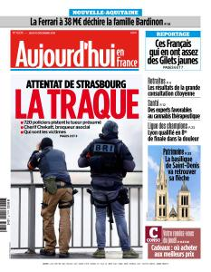 Aujourd'hui en France du Jeudi 13 Décembre 2018