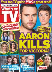 What's on TV - 07 December 2019