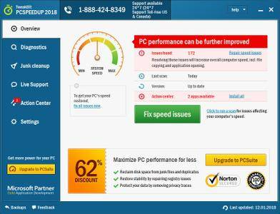 TweakBit PCSpeedUp 1.8.2.42 Multilingual + Portable