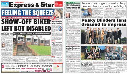 Express and Star Sandwell Edition – September 17, 2018