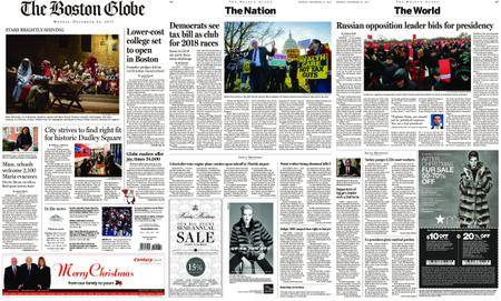 The Boston Globe – December 25, 2017