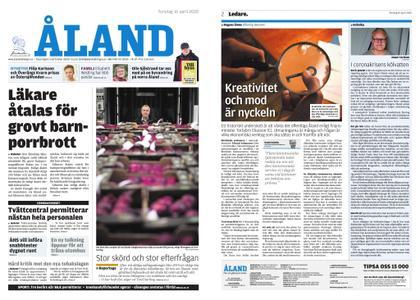 Ålandstidningen – 16 april 2020