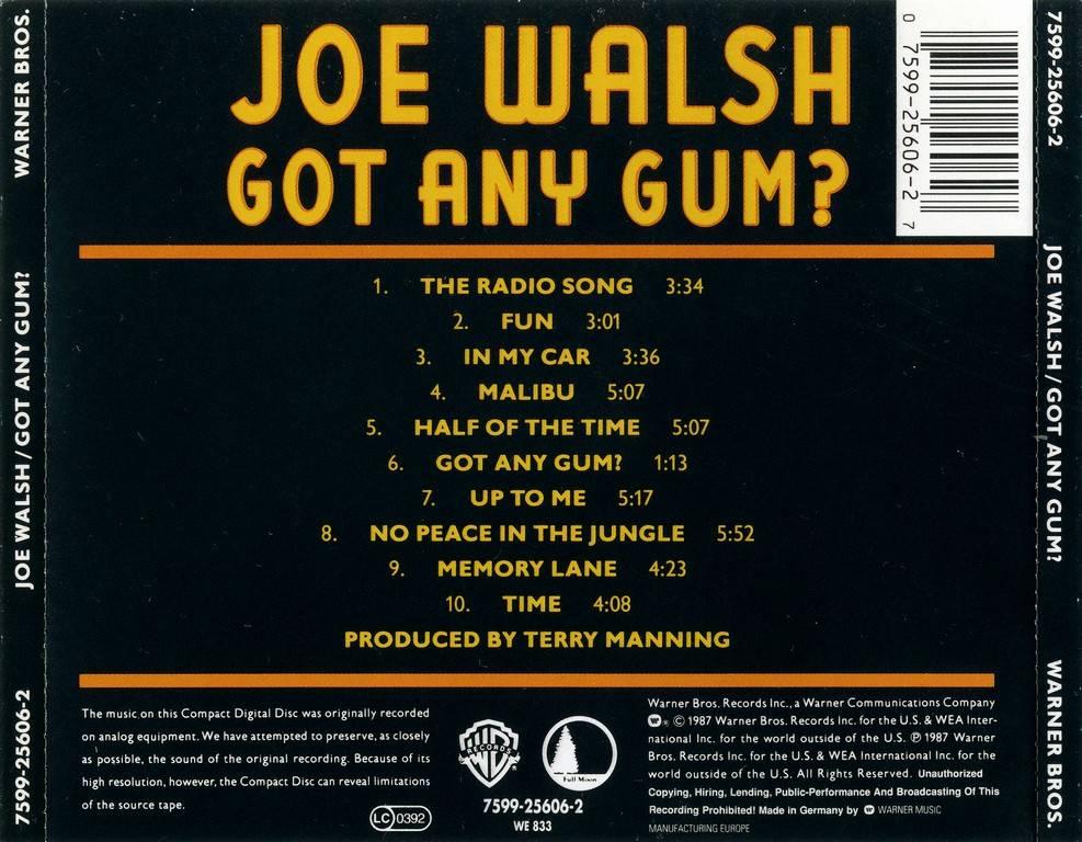 Joe Walsh Got Any Gum 1987 Avaxhome
