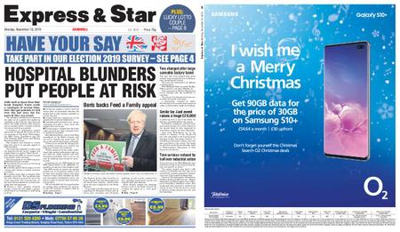 Express and Star Sandwell Edition – November 18, 2019