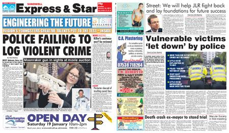 Express and Star Sandwell Edition – January 15, 2019
