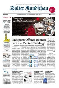 Sylter Rundschau - 01. Dezember 2018