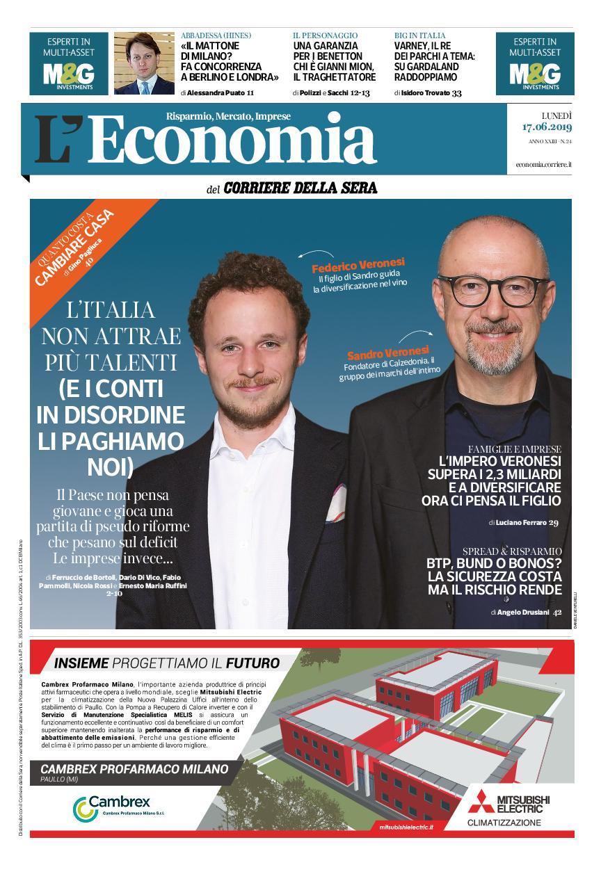 Corriere della Sera L'Economia – 17 giugno 2019