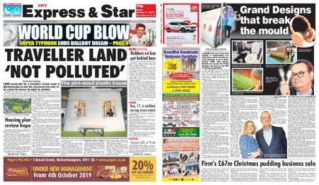 Express and Star City Edition – October 11, 2019