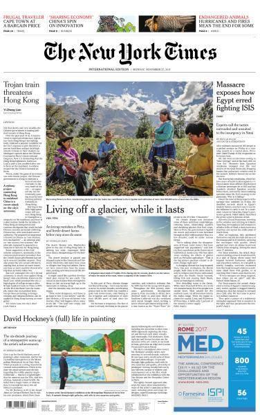 International New York Times - 27 November 2017