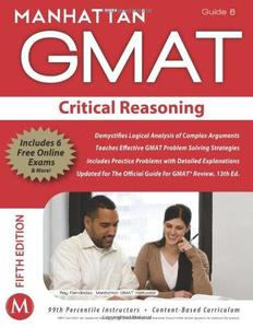 Manhattan GMAT Strategy Guide 6 : Critical Reasoning (Repost)