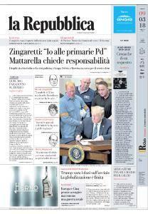 la Repubblica - 9 Marzo 2018