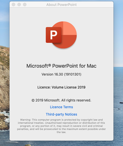 Microsoft PowerPoint 2019 for Mac v16.30 VL Multilingual