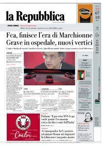 la Repubblica - 22 Luglio 2018