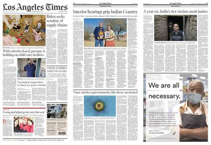 Los Angeles Times – February 25, 2021