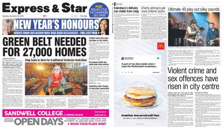 Express and Star City Edition – December 28, 2019
