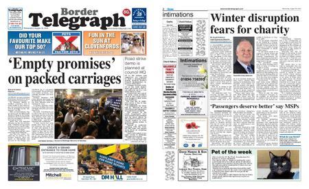 Border Telegraph – August 28, 2019