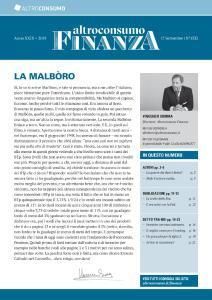 Altroconsumo Finanza N.1332 - 17 Settembre 2019