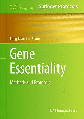 Gene Essentiality: Methods and Protocols