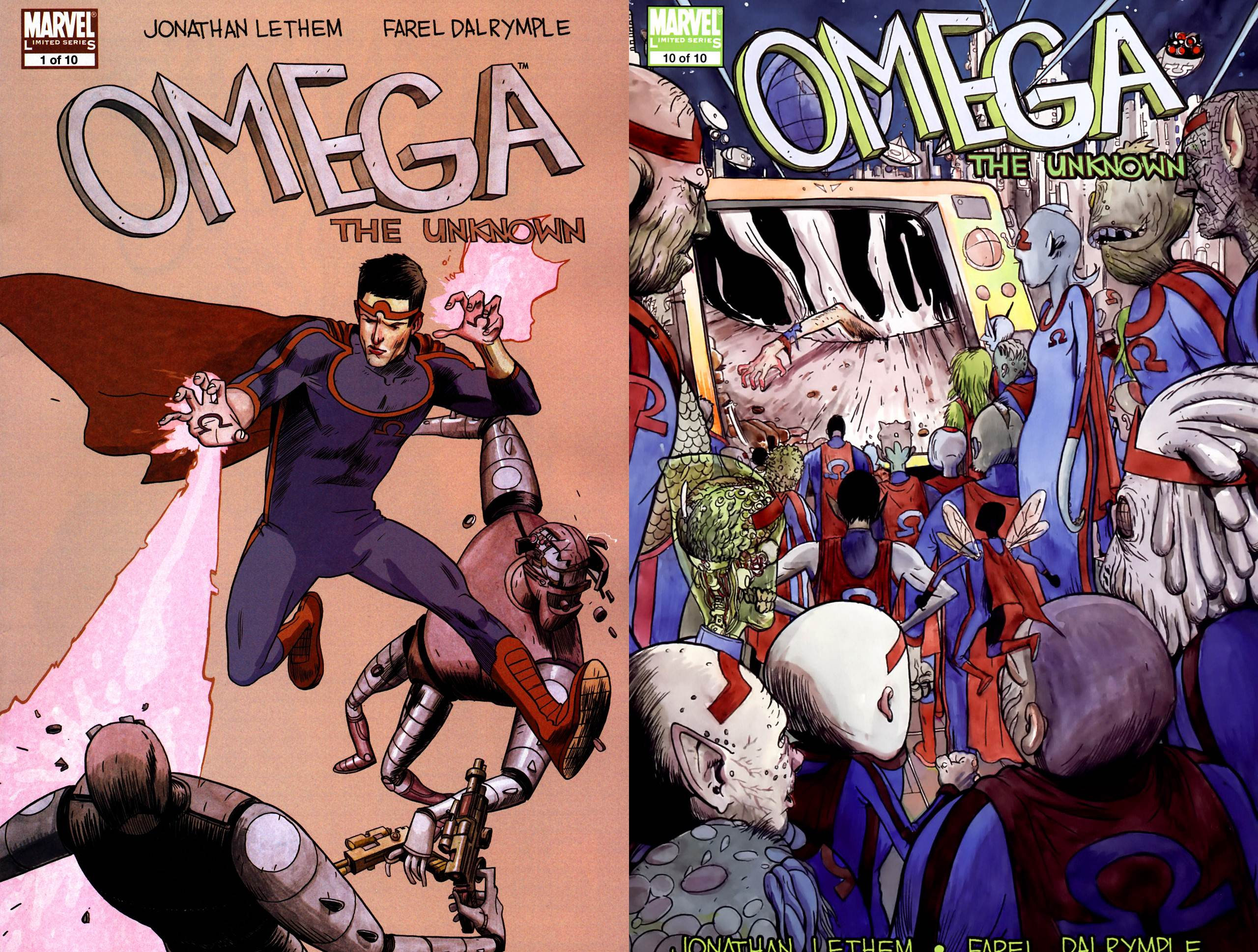 Omega - The Unknown #1-10 (2007-2008) Complete