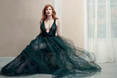 Jessica Chastain by David Slijper for Harper's Bazaar UK November 2014