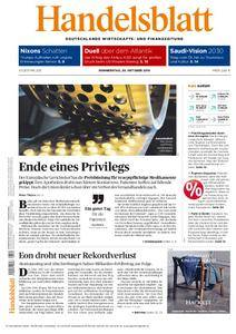Handelsblatt - 20. Oktober 2016