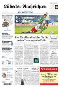 Lübecker Nachrichten Ostholstein Süd - 01. Oktober 2017