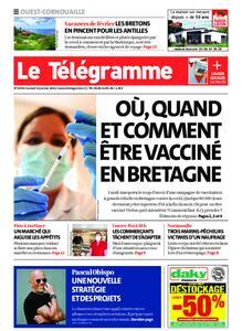 Le Télégramme Ouest Cornouaille – 16 janvier 2021