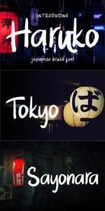 Haruko - Brush Font
