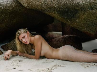 Tessa Greiner by Jeffrey Chan on the beach in La Digue, Seychelles