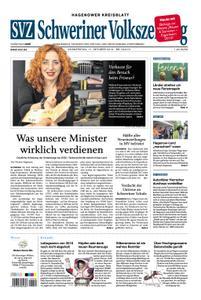 Schweriner Volkszeitung Hagenower Kreisblatt - 17. Oktober 2019