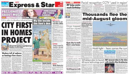 Express and Star City Edition – August 17, 2019