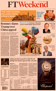 Financial Times Europe – 05 October 2019