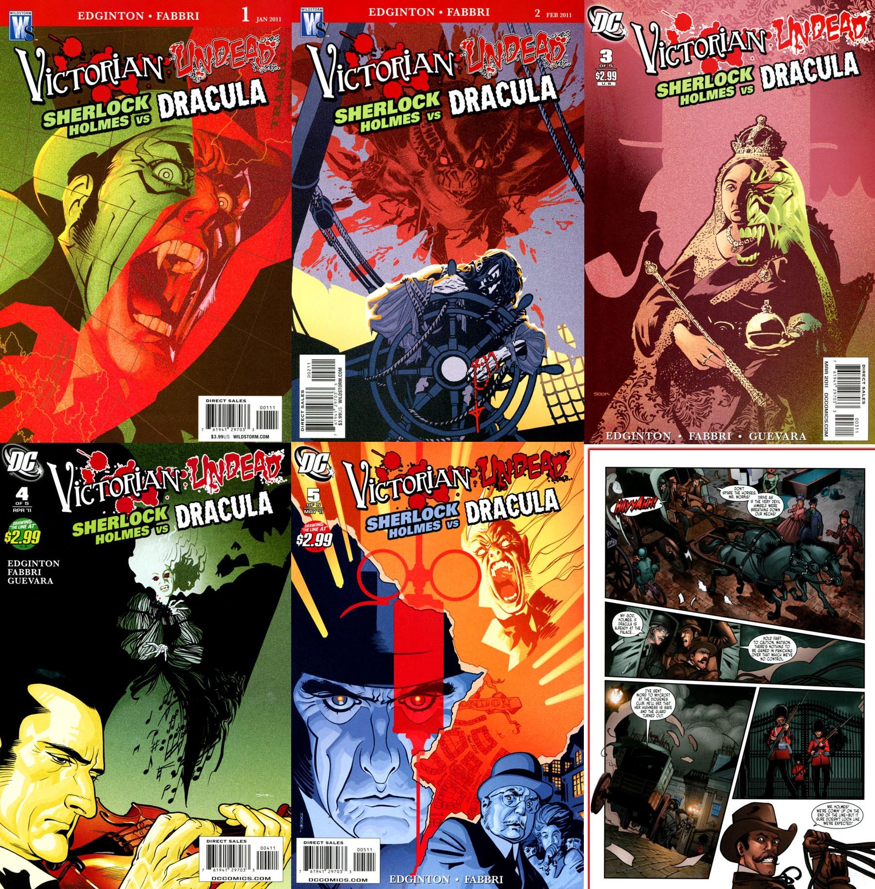 Victorian Undead II: Sherlock Holmes vs. Dracula #1-5 (of 5) (2011)