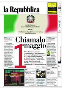 la Repubblica – 30 aprile 2019