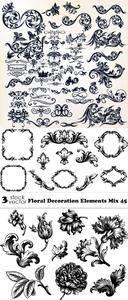 Vectors - Floral Decoration Elements Mix 45