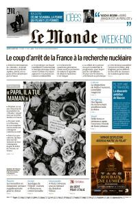 Le Monde du Samedi 31 Août 2019