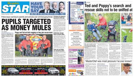 Shropshire Star Shrewsbury Edition – November 18, 2019