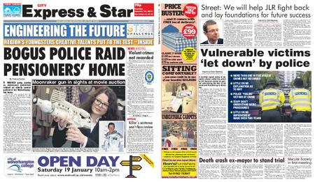 Express and Star City Edition – January 15, 2019