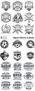 Vectors - Sport Retro Labels